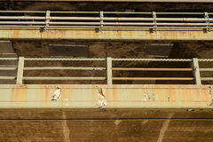 纽约举起了高速公路生锈和剥落在几年以后 免版税库存照片