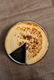 纽约乳酪蛋糕 库存照片