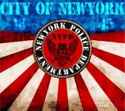 纽约人学院T恤杉图形设计 免版税库存照片