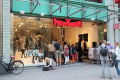 纽约人时尚商店 免版税库存图片
