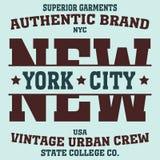 纽约体育T恤杉 图库摄影