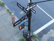 纽约信号 库存图片