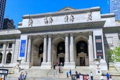 纽约公立图书馆是位于布耐恩特公园东方的一个象征的大厦在曼哈顿(NYC) 库存照片
