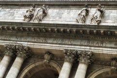纽约公立图书馆的门面 库存图片