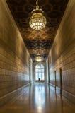 纽约公立图书馆纽约的内部走廊 免版税图库摄影