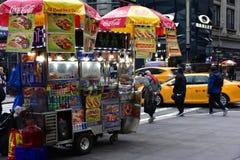 纽约典型的食物卡车  免版税图库摄影