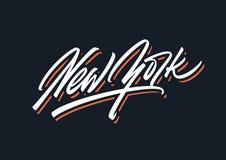 纽约刷子传染媒介字法 库存照片