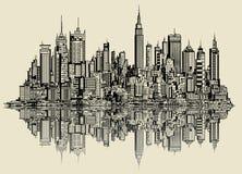 纽约剪影  库存照片