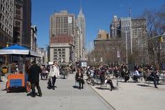 纽约午餐时间 库存照片