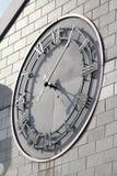 纽约华尔街直升机场时钟 免版税图库摄影