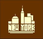 纽约名字 创造性的传染媒介印刷术海报概念 免版税库存图片