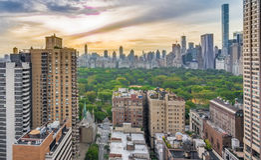 纽约和公担公园日出 免版税库存照片