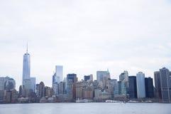 纽约商业大厦天感觉 免版税图库摄影