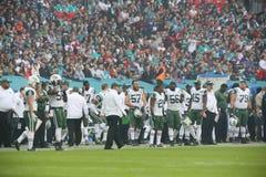 纽约喷射机队国际系列比赛对在温布利球场的迈阿密海豚 免版税图库摄影