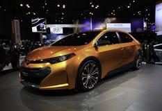 2014年丰田Corolla Furia概念被陈列在 免版税库存图片