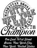 纽约图形设计传染媒介艺术 免版税库存图片