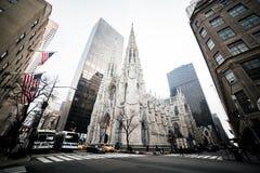 纽约圣巴特利爵教堂 图库摄影