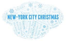 纽约圣诞节词云彩 皇族释放例证