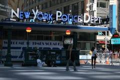 纽约在时报广场的警察局 库存照片