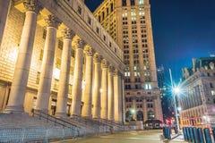 纽约在晚上,曼哈顿 免版税库存照片