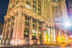 纽约在晚上,曼哈顿 免版税图库摄影