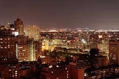 纽约在晚上- 2017年9月 库存照片