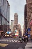 纽约在白天的街道路 免版税图库摄影