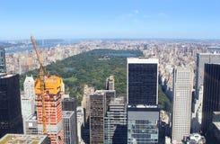 纽约地平线和中央公园 免版税图库摄影
