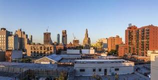 纽约地平线日落的 库存照片