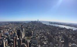 纽约地平线曼哈 图库摄影