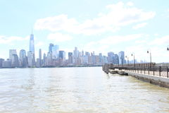 纽约地平线的看法 库存图片
