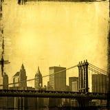 纽约地平线的Grunge图象 向量例证