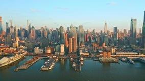 纽约地平线空中寄生虫英尺长度  股票视频