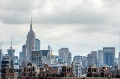 纽约地平线财政和住宅区  库存图片