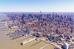 纽约地平线鸟瞰图  免版税库存图片