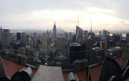 纽约地平线-岩石的上面 免版税库存图片
