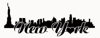 纽约地平线-爱N Y 免版税库存照片