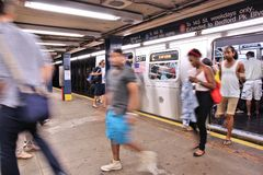纽约地铁 图库摄影