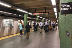 纽约地铁 免版税库存图片