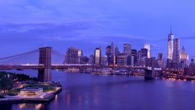 纽约城日出 免版税库存照片