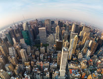 纽约城鸟瞰图,北部的方向 免版税库存照片