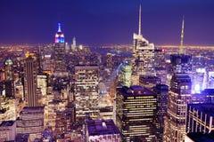 纽约城鸟瞰图 免版税库存照片