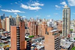 纽约城,鸟瞰图 免版税图库摄影