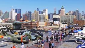 纽约夏天晴天强悍博物馆曼哈顿全景4k美国