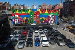 纽约多故事停车场 免版税库存照片