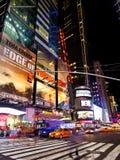 纽约夜 库存照片