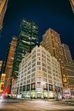 纽约大厦在夜之前 库存照片