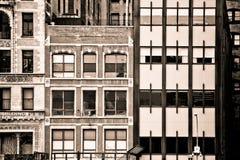 纽约大厦门面 免版税图库摄影