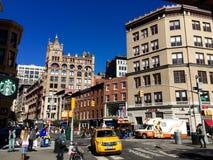 纽约奔忙的街道  免版税库存照片