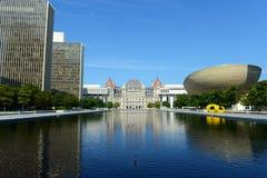 纽约州国会大厦,阿尔巴尼, NY,美国 免版税库存图片